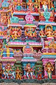 image of tamil  - Sculptures on Hindu temple gopura  - JPG