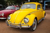 CHENNAI - INDIA - JULY 24: Volkswagen Type 1 (Volkswagen Beetle or VW Bug) retro vintage car on Heri