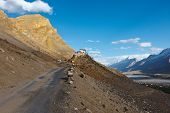Road to Ki Monastery. Spiti Valley,  Himachal Pradesh, India