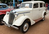 CHENNAI - INDIA - JULY 24: Vauxhall 14 1938 (retro vintage car) on Heritage Car Rally 2011 of Madras Heritage Motoring Club at Egmore on July 24, 2011 in Chennai, India