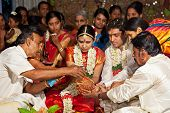 CHENNAI, INDIA - AUGUST 29: Indian (Tamil) Traditional Wedding Ceremony on August 29, 2010 in Chenna