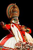 CHENNAI, INDIA - SEPTEMBER 9: Indian traditional dance drama Kathakali preformance on September 9, 2