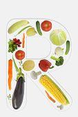 Alphabet of vegetable -R