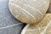 background with round peeble stones