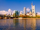 The central business district of Frankfurt, Germany