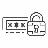 Lock Password Icon. Outline Lock Password Vector Icon For Web Design Isolated On White Background poster