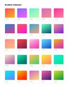 Beautiful Color Gradient Collection. Gradients Template For Your Design. Trendy Modern Soft Gradient poster