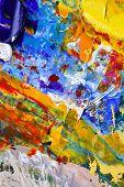 fundo abstrato pintura mista