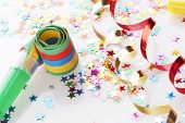 stock photo of reveillon  - red and golden spirals - JPG