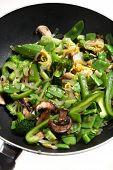 Cooking Vegetable Stir Fry In Wok