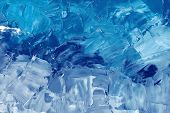 Abstract Background Texture In Blue Tones, Brush Strokes With Oil Paints On Canvas poster