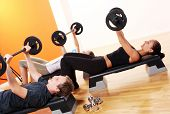 foto of cardio exercise  - people group  doing fitness exercise - JPG