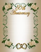 picture of 50th  - Border design element for 50th wedding anniversary background border or frame with copy space - JPG