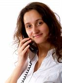 Woman Giving A Phone Call