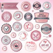 Cosmetics labels and badges