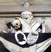 Memento mori - skull, reaper sickle