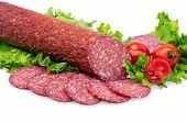 tasty red salami
