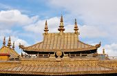Beautiful Tibetan Temple Roof