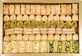 foto of ghee  - Lebanese sweets in a box close up shot - JPG
