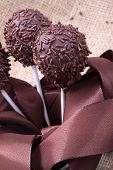 chocolate sprincle cakepops
