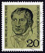 Postage stamp Germany 1970 Georg Wilhelm Hegel