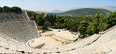 Epidauro o teatro de Epidauros antiguo griego