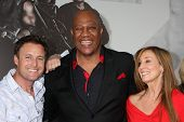 Los Angeles - AUG 15:  Chris Harrison, Tiny Lister & guest arrives at the