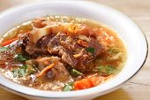 Indonesian famous oxtails soup