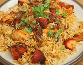 Indian chicken tikka biriyani curry