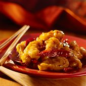 Chinese food -General Tso's chicken.