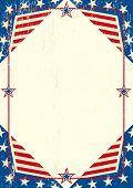 EUA grunge papel A patriótica cartaz com um grande quadro para sua mensagem