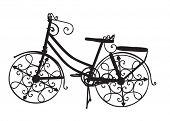 Ornate Ornamental Bike as a Black Silhouette