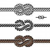 vector black rope knot symbols