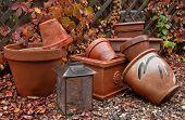 Garden Pots In Fall
