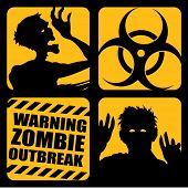 Zombie uitbraak pictogrammen