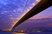 Tsing Ma Bridge at night