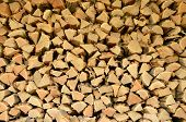 pic of firewood  - Full picture of firewood close - JPG
