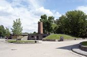 OSWIECIM - MAY 26: Gas chamber and crematory in the concentration camp in Oswiecim, Poland on May 26, 2013. Oswiecim was the largest German concentration camp on Polish territory during World War II.