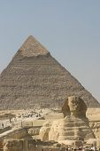 The Sphinx and great pyramid at Giza Egypt