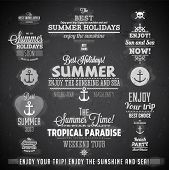 Retro elements for Summer calligraphic designs | Vintage ornaments | All for Summer holidays | tropical paradise, sea, sunshine, weekend tour, beach vacation, bon voyage, adventure labels | vector set