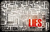 stock photo of cheating  - Lies and the Spreading of Fake Information - JPG