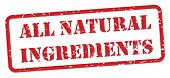 All Natural Ingredients Rubber Stamp