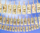 Money On Clothes Line Sky 3