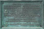 Plaque located at the Brookland Ferry site in Brooklyn Bridge Park