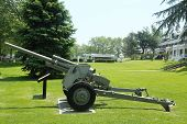 3-inch anti-tank gun M5 at Fort Hamilton US Army base in Brooklyn