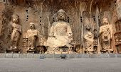 stock photo of grotto  - Longmen Grottoes with Buddha - JPG