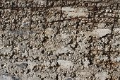 The texture of the reinforced concrete