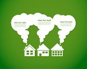 green village and clean enviroment, infographics