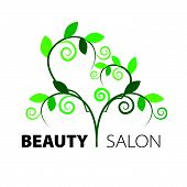 creative design Tree Heart Of Green Leaves In The Beauty Salon
