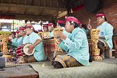 Musiker in der Gamelan-Troup